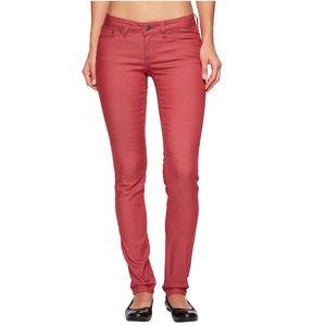 Prana Kara Straight Skinny Leg Brick Red Jeans